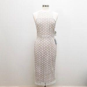 Lace Cutout Dress - Halter Style Sleeveless - NWT
